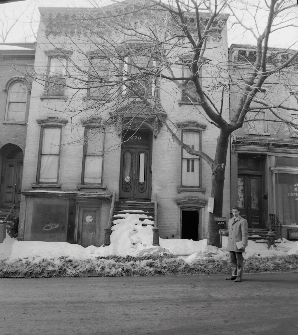 220 Hudson Ave, March 1963. Formerly the property of Luke and Florence Devlin.