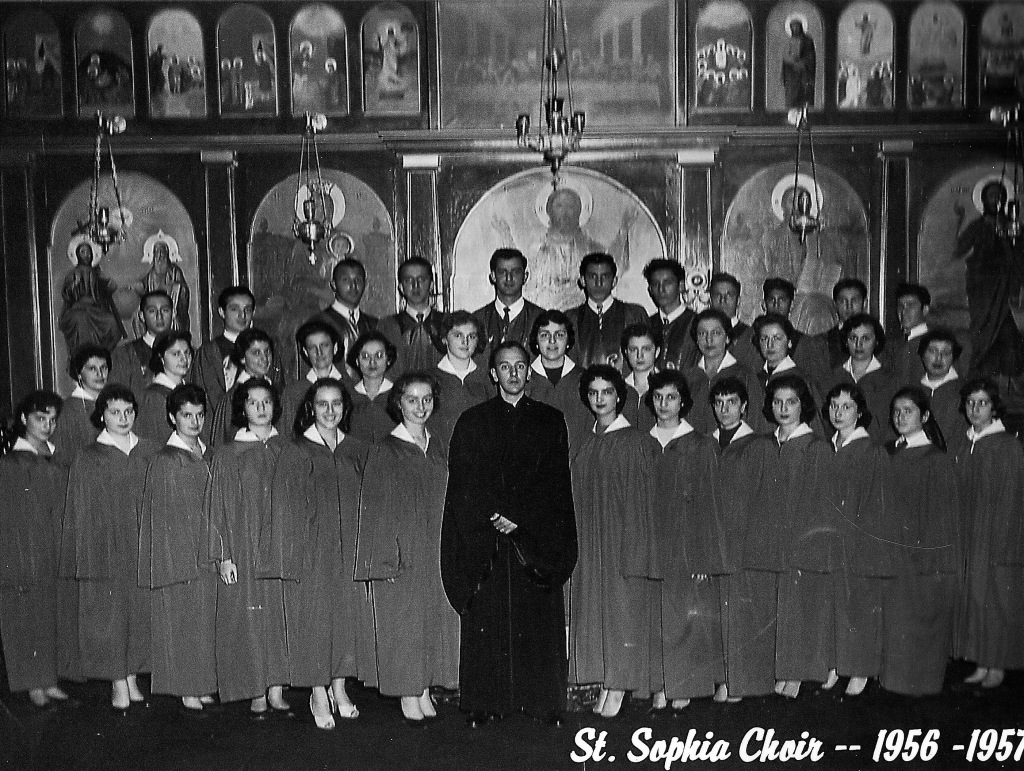 St Sophia choir, 1956. St Sophia Archives.