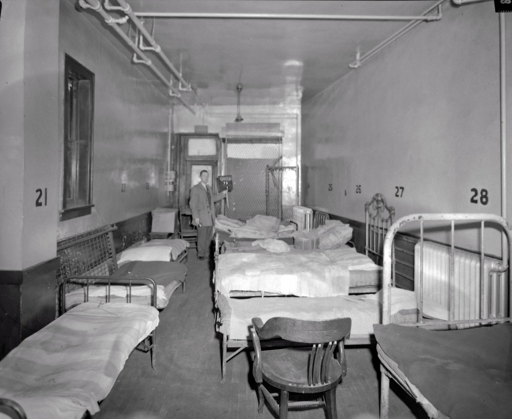 Census enumerators in 1940 counted 92  residents; most  slept on numbered cots. NYS Archives.