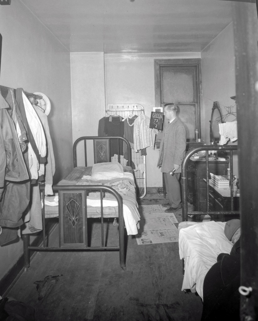 A semi-private room. NYS Archives.