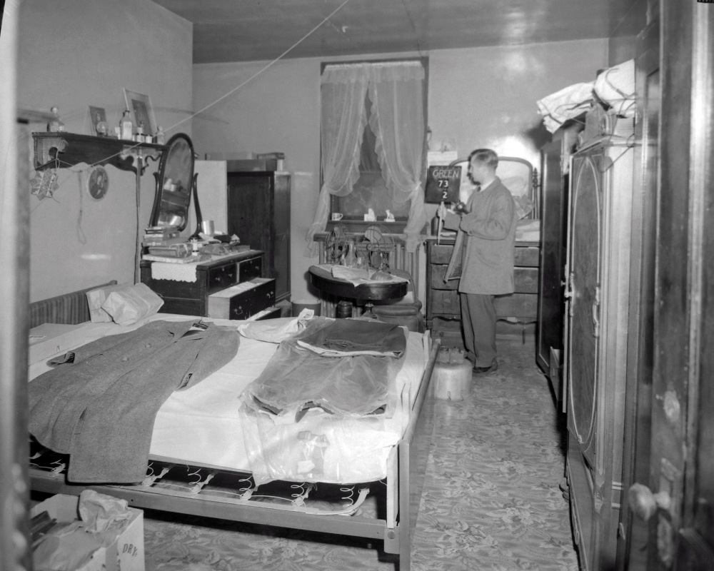 A rare private room. NYS Archives.