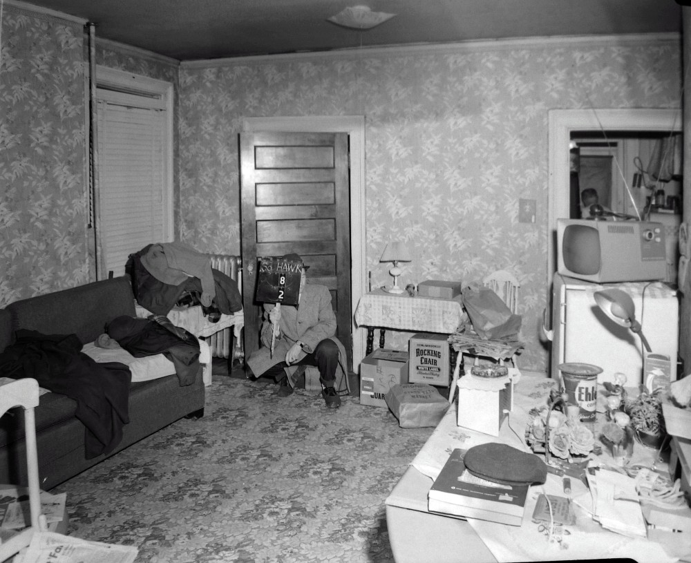 Preparing to move? The second floor apartment, 8 S. Hawk Street, March 1963. NYS Archives.