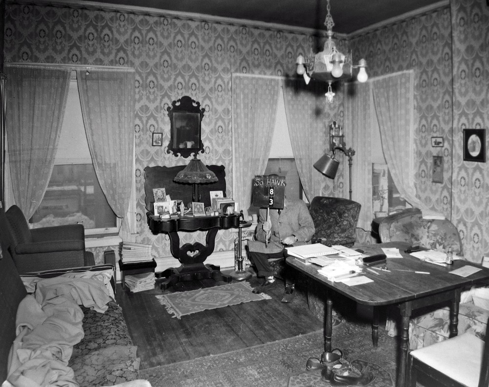 The Binseels' apartment? Inside the 3rd floor apartment, 8 S. Hawk Street. NYS Archives.