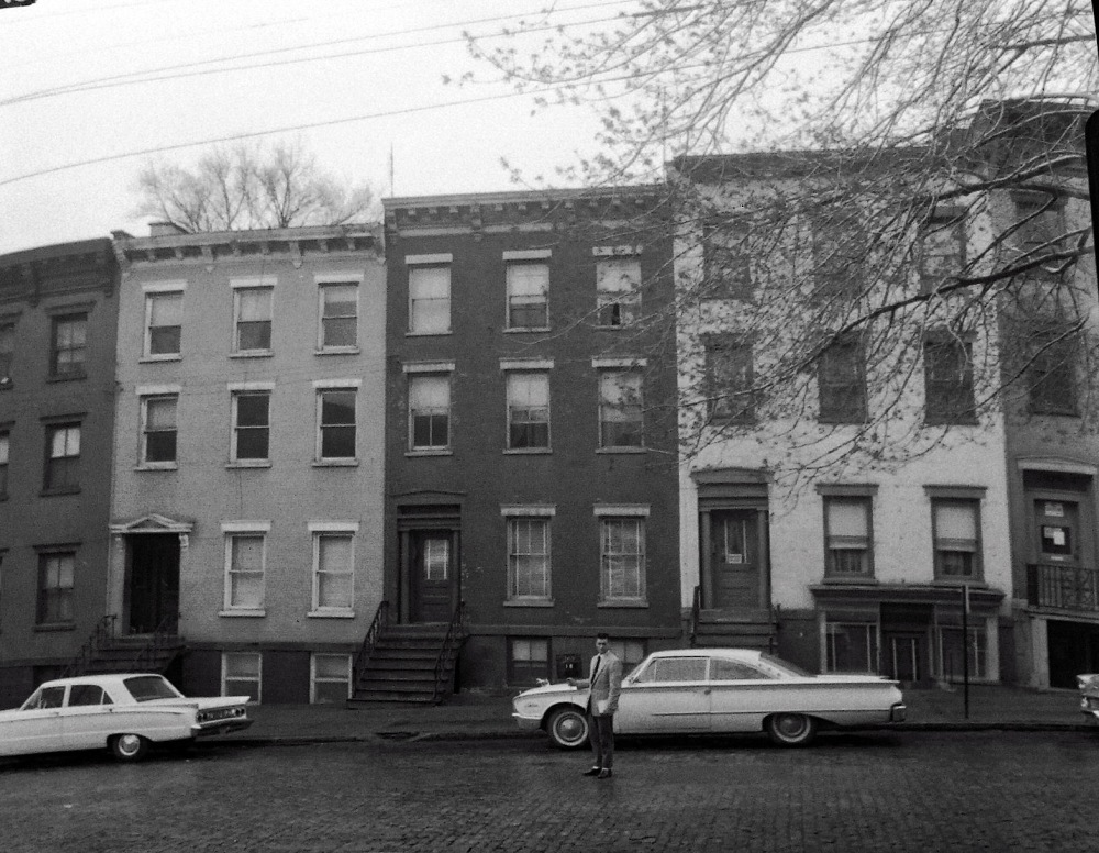 16 Jay Street, where Mae Carlson got her start in the rooming house business, May 1963. NYS Archives.