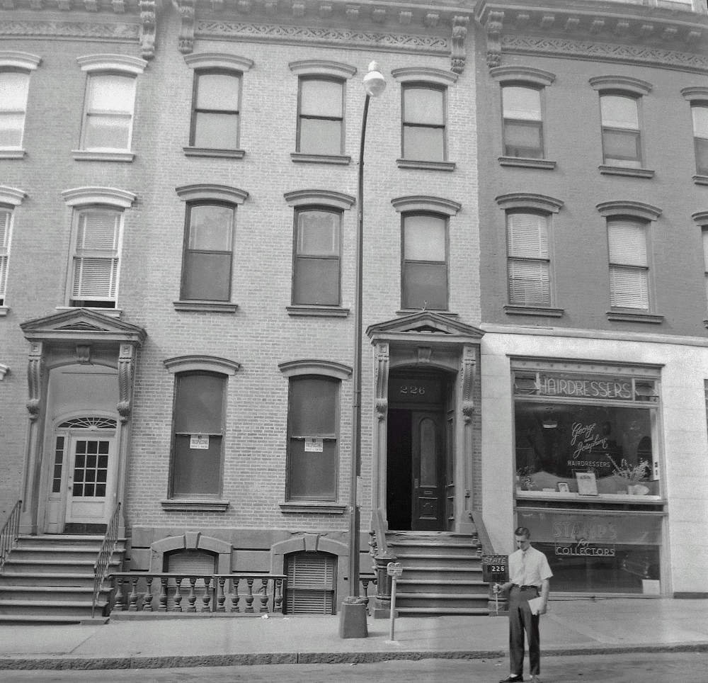 George and Josephine Stalter's salon at 228 State St. NYS Archives.