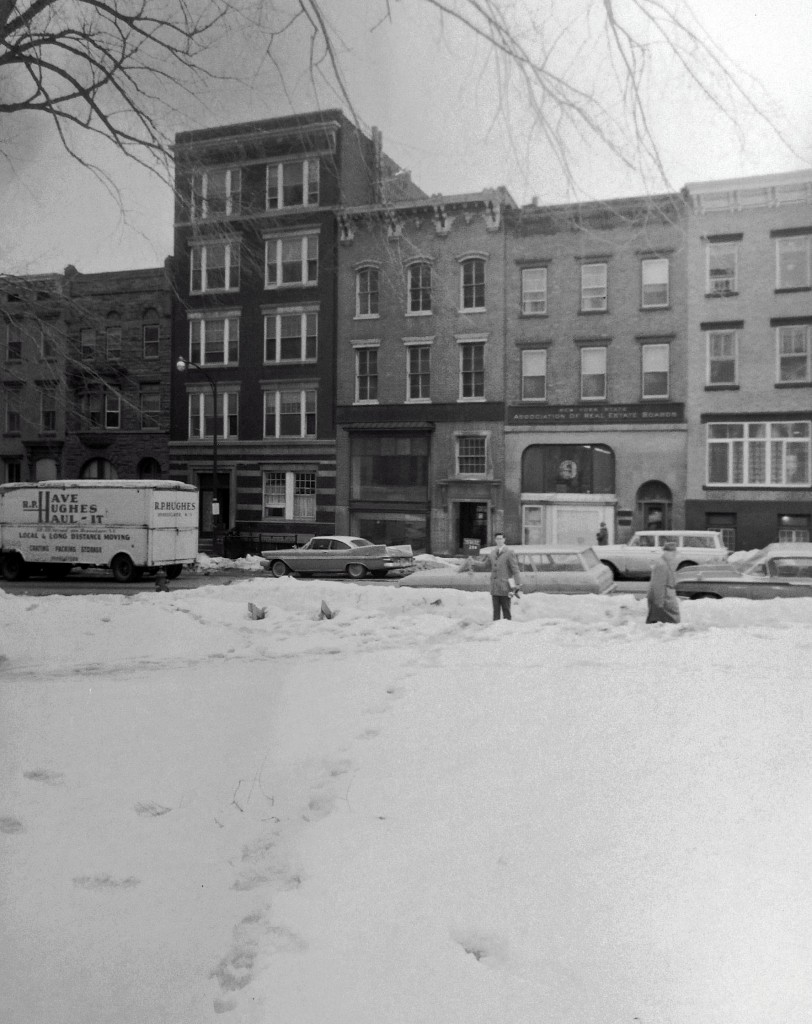 State Street across from the State Capitol, March 1963.