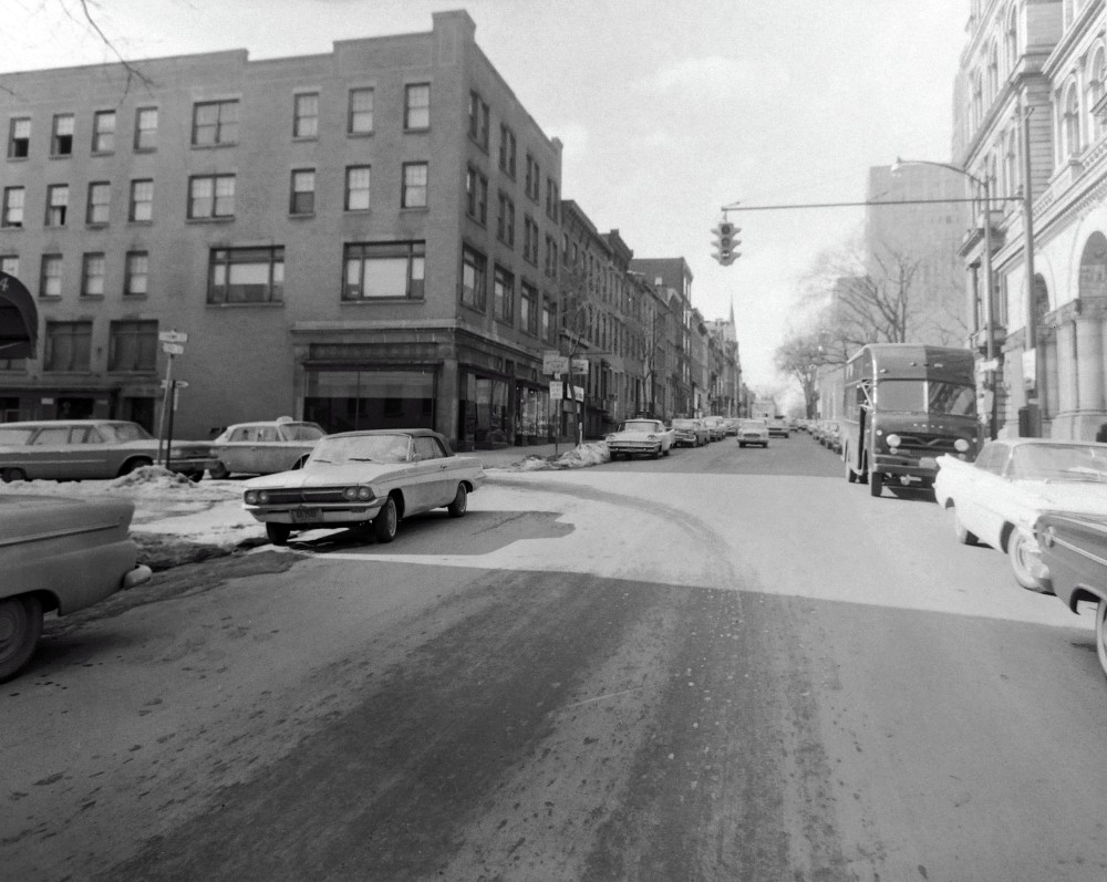 State Street corner of South Hawk. NYS Archives.
