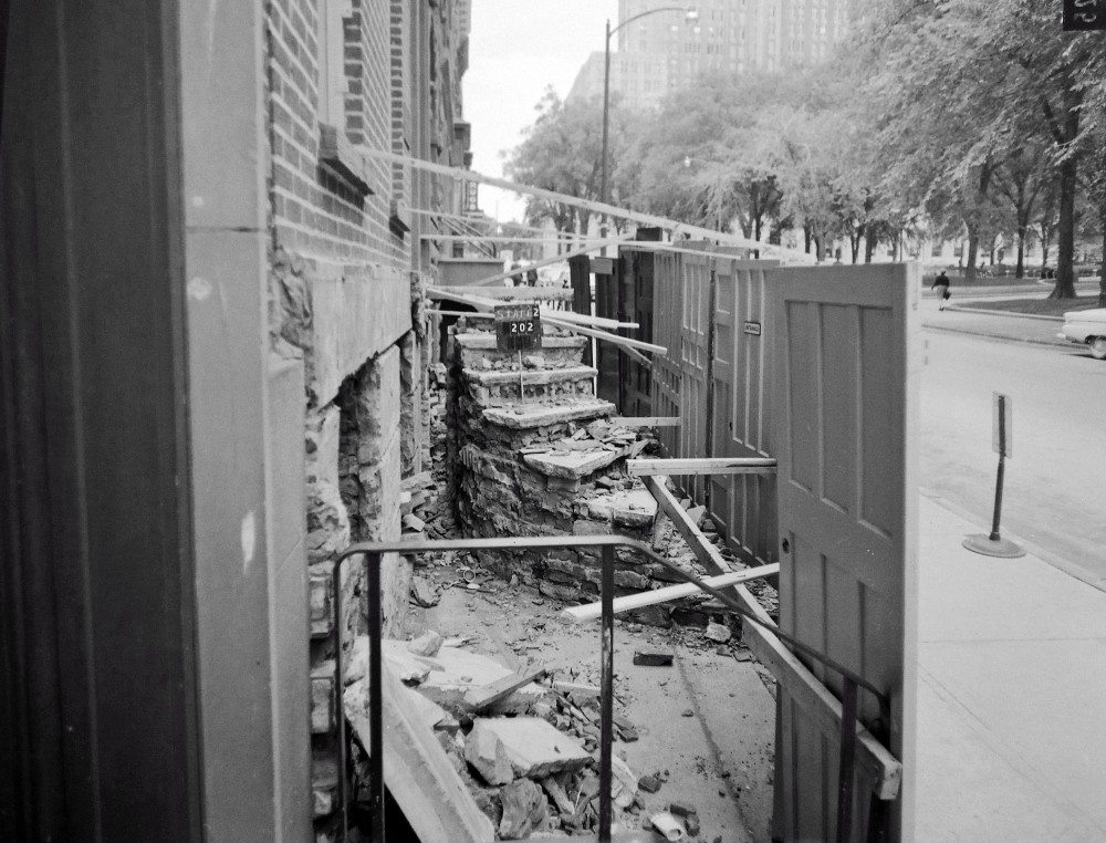 Demolitions begin on State Street, March 1963. NYS Archives.
