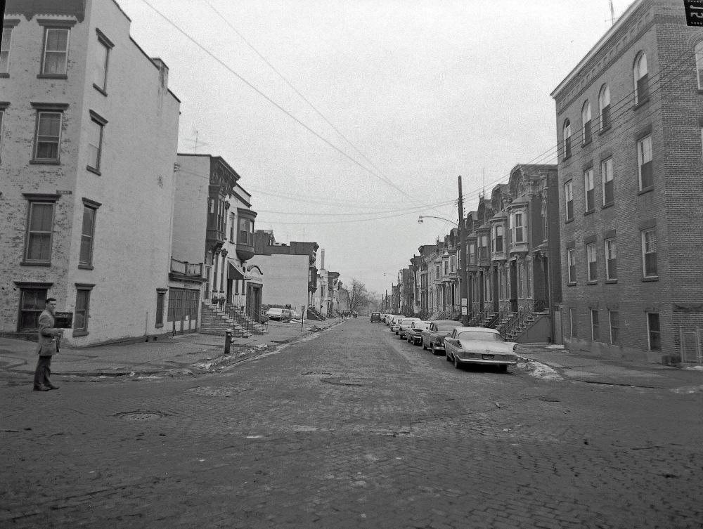 Jay Street, corner of South Swan, January 1963. NYS Archives.