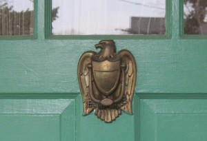 The governor's doorknocker.
