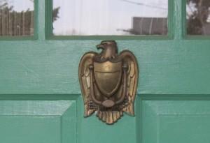 The governor's doorknocker.