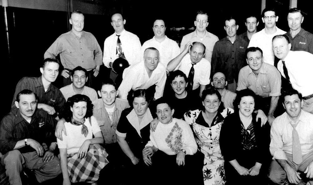 The Dinty's Tavern Mixed Bowling League. Morris and Barry Levine were both members. Courtesy of Barry Levine.