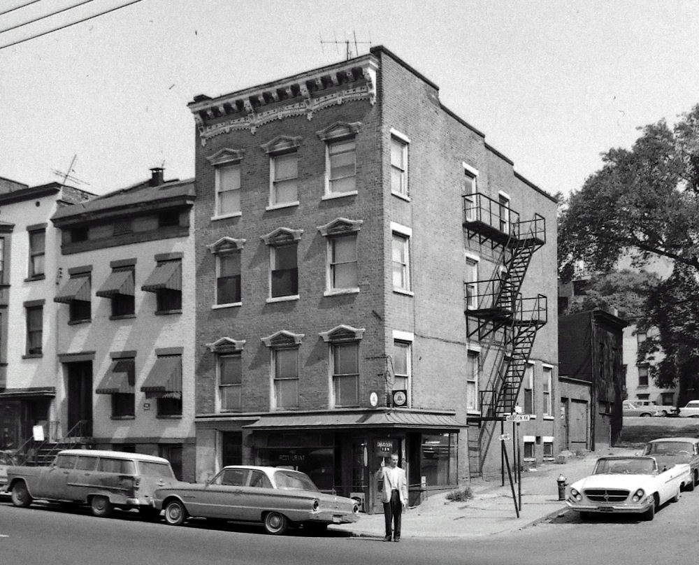 159 Hudson Avenue awaiting demolition, September 1964. NYS Archives.