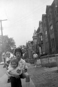 Lynn and Betty Ann, the youngest Nicholas, on Elm Street, 1961. Courtesy Peggy Nicholas.