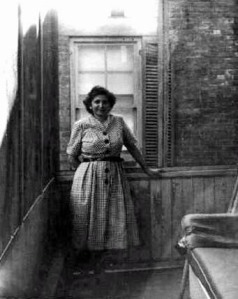 Sophie stands on the back porch ca. 1950. Courtesy of Angelo Kontis.