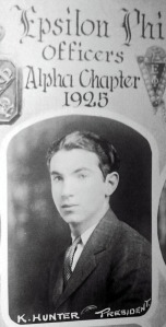 Ken Hunter, Albany College of Pharmacy class of 1925. Courtesy Mary Jane Hunter Kretzler.