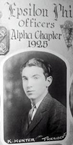 Ken Hunter, Albany College of Pharmacy class of 1925. Courtesy Mary Jane Hunter Kretzler.