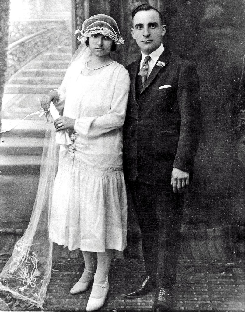 Sophie and Lazarus on their wedding day. Courtesy of Angelo Kontis.