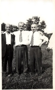 Lazarus (right) with his older brother Vasilios (left) and nephew Nicholas, ca. 1940. Vasilios, a graduate of the medical college, was the first of the family to arrive in Albany. Courtesy of Angelo Kontis.
