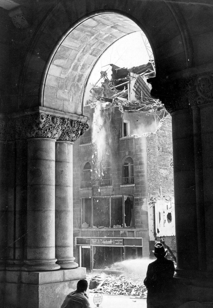 Demolition of the Ambassador at 180 State, December 1964. Used by permission of the Times Union.