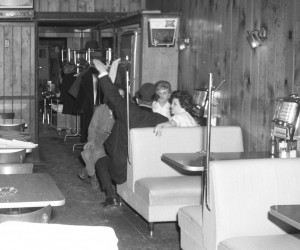 At a booth in the old Ambassador, March 1963. NYS Archives.