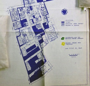 Detail from South Mall Coordinating Committee Map, July 1963. NYS Archives.