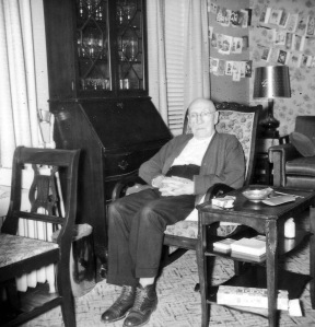 Tim Sheehy at home in 71 Elm St. Mike and Anita Mullen still own the rocking chair. Courtesy Mike Mullen.