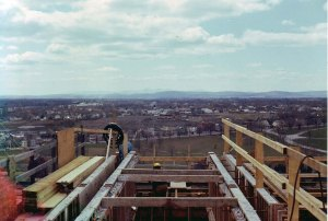 Atop the Cultural Education Center, May 1972. Courtesy Gerry and Mary Dwileski.