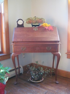 An example of Gerry's carpentry in the Dwileski family home.